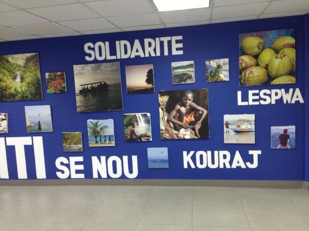 poster at airport
