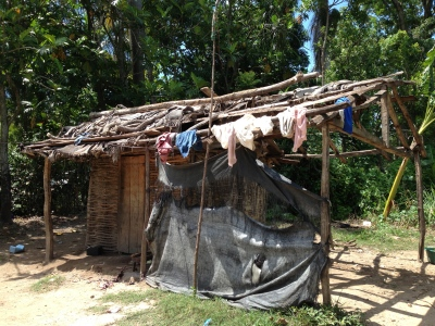 A typical family home in rural Haiti.
